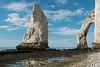 l'aiguille (alain01789) Tags: etretat normandie aiguille arche cliff falaise sea mer manche channel landscape seascape paysage bleu blue lowtide maréebasse velvia seaside nature