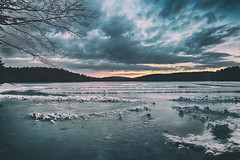 A-Very-Cold-Morning (desouto) Tags: nature landscape rivers lakes snow ice sky trees sunrise sunset colors
