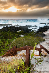 Sunset (WhitcombeRD) Tags: wind westbay grand nature rough weather waves dock caribbean anchor smooth caymanislands cayman gloomy ocean winter sea storm