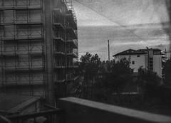 Testing the infinity (Claudio Castelli) Tags: landscape city test urban cityscape monochrome dark tlr grainy balcony large format working diy 5x7 13x18 paper negative industar 51 diycamera claudiocastellilf