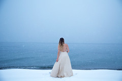 Okanagan (Lichon photography) Tags: lake okanagan girl woman winter snow blue snowing frozen cold dress wedding beauty me selfie self portrait conceptual idea surreal tumblr lichonphotography