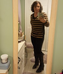 Trying a more casual look today, leggings and a long sweater. What do you think? #comfyclothes #leggings #sweater #girslikeus #transisbeautiful (robinwinslet) Tags: girslikeus sweater transisbeautiful leggings comfyclothes