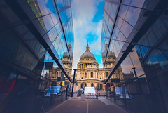 Urban contrast (gian_tg) Tags: stpaulscathedral onenewchange shoppingcomplex moderndesign oldnew reflection perspective urbancontrasts flickrfriday