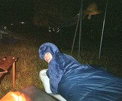 blue boy. night one. (ryan). (jhdahl29) Tags: people night nighttime bonnaroo music festival camping disposable camera singleuse film summer portrait