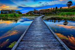 Pekapeka Wetlands Boardwalk (Jos Buurmans) Tags: boardwalk centralhawkesbay evening hastings hawkesbay landscape nature newzealand northisland pekapekawetlands poukawa sunset walkways wetland wetlands nz