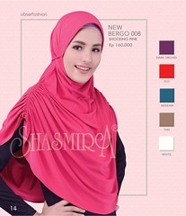 New Arrival!!!  SJARME OBSERFASHION           Limited Edition  Code      : New Bergo 008      Material : Spandex Sutera      Colour    : Pink. Orchid. Red. Aegean.                         Tan. White      Price       : IDR 160k   Cantik Bersama (firaya_azzahra) Tags: shawl palembang jilbab jilbabpraktis kerudungsyari shasmirapalembang busanamuslimah jilbabmodern kerudung tudung hijab modernhijab shasmira jilbablangsung jilbabspandex jilbabsyari jilbabshasmira tudungbawal