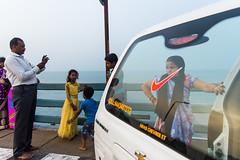 @Pamban,Rameswaram. (vjisin) Tags: rameswaram pamban bridge indianstreetphotography streetphotography india asia tamilnadu incredibleindia outdoor sea indianocean indianwoman indianman man woman orange blue
