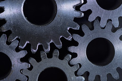 Macro Monday - Contraption *Explore* (AdaMoorePhotography) Tags: nikon gears gear cogs metal blue black silver shadows highlights contraption macro macromonday macromondays