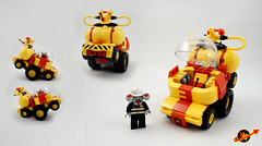 Febrovery 2017 Day 5 (TFDesigns!) Tags: lego space febrovery fire alien vehicle truck