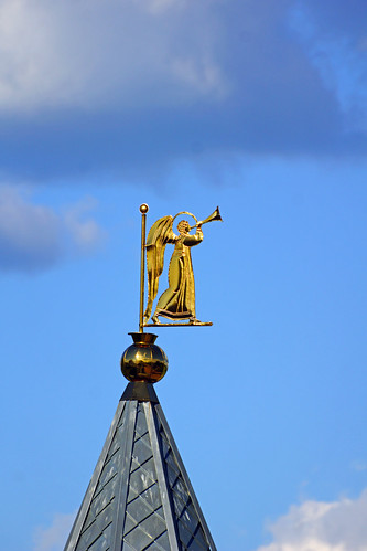 Angel on the top of the tower, Mozhaysk, Russia