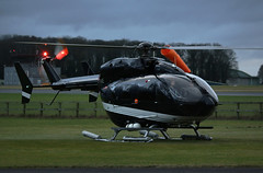 Down and dusky (crusader752) Tags: airbus eurocopter ec145 gsrne helicopter kemble chopper anticollision lights windsock