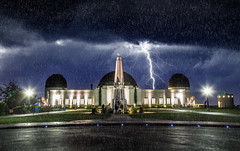 Griffith Observatory (Jonathan Ma.) Tags: cloud storm rain composite night observatory lightning griffith