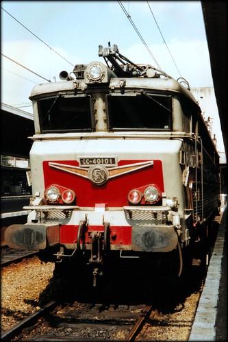 SNCF CC40101. Liège Guillemins, 13 aug 1993.