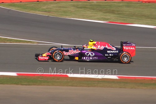 Daniil Kvyat in Free Practice 1 for the 2015 British Grand Prix at Silverstone