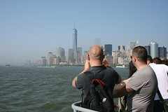 Viewing Manhattan (Brian Aslak) Tags: nyc newyorkcity people usa newyork skyline view unitedstates manhattan northamerica hudsonriver libertyisland newyorkbay upperbay
