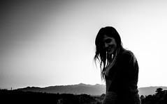 Portrait in Black and white (imanol.riggio) Tags: shadow portrait en white mountain black fall blanco model exposure y retrato sombra modelo mendoza otoo filters montaa negra opacity exposicion filtros opacidad