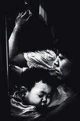 ((Jt)) Tags: blackandwhite baby monochrome underground subway asia metro mother streetphotography korea sonycompactcamera streettogs everybodystreet vscocam everydayasia publishtransportation