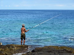 little shore fisherman (BarryFackler) Tags: ocean boy sea beach water sport youth landscape outdoors island hawaii polynesia coast seaside fishing marine waves pacific outdoor horizon pacificocean shore maritime lad bigisland aquatic boardshorts youngster kona saltwater fishingpole keiki baseballcap lavarock 2015 hawaiianislands honaunau konacoast hawaiicounty southkona hawaiiisland honaunaubay sandwichislands westhawaii barryfackler barronfackler