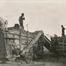 Men working on a threshing machine