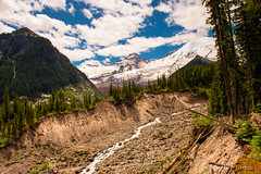 Along the Glacier Basin Trail (b#Photo) Tags: white mountains river nikon hiking mountrainier mountrainiernationalpark emmonsglacier mttahoma glacierbasintrail bsharpphoto