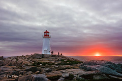 Eternal Witness 灯若有情灯亦老 (guizhou2012) Tags: sunset sea lighthouse canada building architecture clouds nikon rocks novascotia waterfront outdoor maritime serene 日落 acadia oceanfront landscrape 灯塔 gaplight