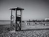 Morning calm before the chaos (biddlem741) Tags: sea bw holiday beach blackwhite mallorca majorca lifeguardtower sacoma matthewbiddle
