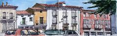Plaza nueva de la villa (P.Barahona) Tags: plaza urbano pluma acuarela casas urbansketchers pbarahona