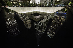 Time To Reflect (gimmeocean) Tags: nyc newyorkcity ny newyork reflections waterfall manhattan groundzero 911memorial freedomtower northpool 1wtc memorialpool