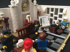 Order in the court. (brickprincess) Tags: lego legomoc moc afol legovignette legolaw law lawyer legolawyer legojudge judge court legocourtroom iphoneonly