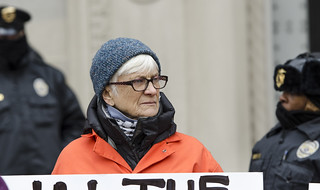 Sherrill Hogan Participates in an Anti-Tear-Gas Demonstration Outside the U.S. Department of Justice