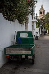 Stromboli 8 (gsamie) Tags: 600d aeolianislands canon guillaumesamie isoleeolie italy rebelt3i sicilia sicily stromboli cars church green gsamie street tricycle italie it