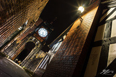 Welcome to Clock Town (Tim van Zundert) Tags: hdr chester city northwest england street photography eastgate clock night evening long exposure lamp sony a7r voigtlander 21mm ultron