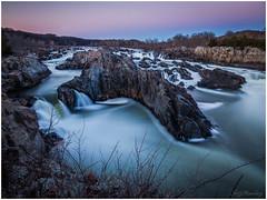 Great Falls At Sunset (jiroseM43) Tags: greatfalls greatfallsnationalpark sunset waterfalls potomacriver river nature virginia longexposure