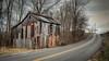 Tin clad Tobacco Barn (Bob G. Bell) Tags: tobaccobarn tin road clouds kentucky marshallcounty draffenville bobbell briensburg