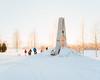 Umeå, Jan 2017 (magastrom) Tags: 6x7 film analog mamiya7ii mamiya7 mediumformat kodakportra400 epson v700 vuescan västerbotten norrland umeå sweden landscape snow winter publicart sculpture mehmetaliuysal
