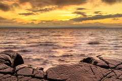 Yellow Sky (Peter Vestin) Tags: nikond7000 sigma1750mmf28exdcoshsm siruin3204x siruik30x adobecreativecloudphotography topazlabscompletecollection göteborgsudden karlstad värmland sweden vänern nature landscape seascape sunset
