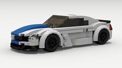 Shelby GT350 (LegoGuyTom) Tags: 2018 2000s 2010s 2door classic vintage v8 vehicle ford fast muscle car cars mustang speed speedster sport sports coupe lego legos ldd digital designer city dropbox download lxf pov povray american america auto shelby gt350