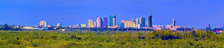 Panoramic view of the skyline of Fort Lauderdale, Florida, USA  / Venice of America