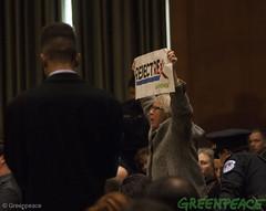 Tillerson Protest (Greenpeace USA 2016) Tags: tillerson capitolhill exxonmobile exxon statedepartment secretary foreignrelations trump climate denier oil heaaring diplomat exxonknew rejectrexx washington districtofcolumbia unitedstates usa