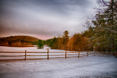 Fence-and-Field (desouto) Tags: nature hdr landscape trees winter snow sky color autumn leaves wildfilowers road forest rivers wildflowers clouds waterfall
