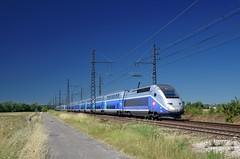 TGV 6808 @ Bressols (Wesley van Drongelen) Tags: sncf société societe nationale chemins fer français francais tgv grande vitesse série serie br class type duplex dasye tgvd d bressols trein train zug 6808 tgv6808