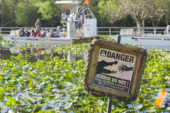 Watch Out for Sharp Teeth (aaronrhawkins) Tags: alligator everglades safari airboat florida swamp river danger warning bite crocodile ride park tour lilly pad lillypad miami aaronhawkins fanboat