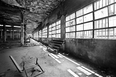 empty places (eb78) Tags: bw blackandwhite monochrome greyscale grayscale telaviv israel middleeast abandoned decay urbanexploration ue urbex warehouse