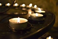 A circle of light... (Maria Godfrida) Tags: light lighting candles circle flames closeup tealight