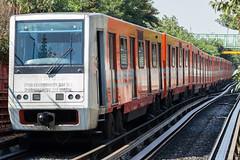 Alsthom/C.N.C.F. NM-73 A cabina CAF. M.0578 - M.0579 (Roberto Tirado - Fotografía) Tags: stcmetro stc metro subway mexico mexicocity cdmx alsthom cncf concarril caf nm73 nm73a vehículo vehicle ferrocarril train línea5