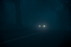 Say Goodnight (blueteeth) Tags: headlights road night countryside woods eerie cinematic