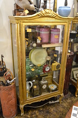 """1930s Gilt Wood Display Cabinet, European, As-is Glass at Left • <a style=""""font-size:0.8em;"""" href=""""http://www.flickr.com/photos/51721355@N02/17844713383/"""" target=""""_blank"""">View on Flickr</a>"""