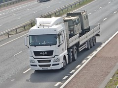 WX60 NVS (Cammies Transport Photography) Tags: road park man truck lorry carlisle m6 flyover unmarked nvs tgx wx60 wx60nvs