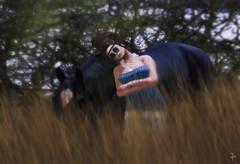 Whispering secrets between us (VeraCruza) Tags: blue horse sunglasses fashion landscape blog flickr scene sl secondlife petitemort nomatch slfashion fashionart finesmith flickrunitedaward washcartsale slblues fluxsurmer