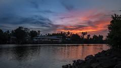 Sunset over Danga Inn (zol m) Tags: zolsimpression cuticutimalaysia goldenhour dusk csc fujinon malaysia malaysiatrulyasia resort river sunset kelantan tawang bachok sgkemasin